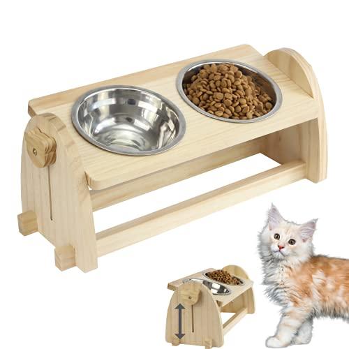 Lecerent Katzennäpf Hundenäpf, Futterschüssel Katze Hunde und Hoch Trinknapf, Katzennapf Napf für Katzen und kleine Hunde, Futternapf Katze , Erhöhte Futterstation Katzen, Katzenbar