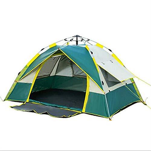 ASDFG Desert Tepee,Campingzelt Camping Zelt,Wasserdicht Trekking Outdoor Sofortiges Aufstellen Moskitoschutz 3-4 Personen Grün 83x59inch
