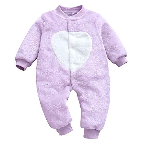 Wekdeg Overall für Kinder, Neugeborene Baby Mädchen Jungen Loving Heart Print Strampler Kleidung