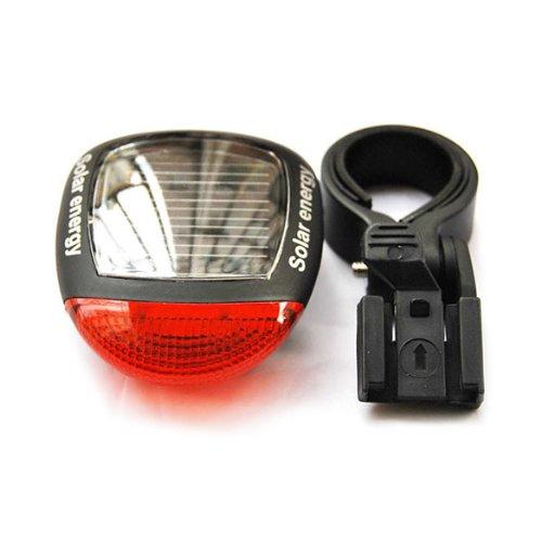 demiawaking energía Solar LED para bicicleta luz de cola trasera Luz Piloto Trasero Rojo