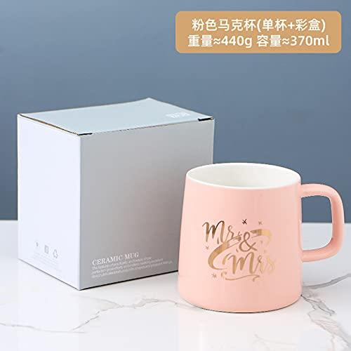 Taza de cerámica taza de regalo taza taza de agua 301-400ml Q