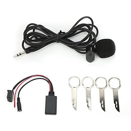 Aramox Car Audio Adapter, DC12V Bluetooth 5.0 AUX Cable Adaptador de audio con reemplazo de micrófono de 150 cm para Focus/Mondeo/C-Max/Fiesta/Fusion/Galaxy/Transit