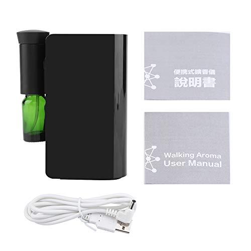 Demeras Máquina de Aceite Esencial Recargable por USB Conveniente para el hogar(Black)