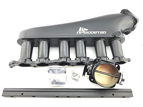 BILLET ALUMINUM INTAKE MANIFOLD Kit for SUPRA MKIV ARISTO 2JZ-GTE SET 90MM THROTTLE BODY & Fuel Rail Kit
