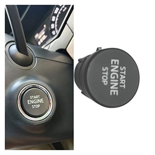 ZIS Interruptor de Inicio del Motor de Motor de Parada de Motor Tecla Ajustar el botón de Inicio de una Llave para Skoda Octavia 2017-2020 5ed905217 (Color : Black)