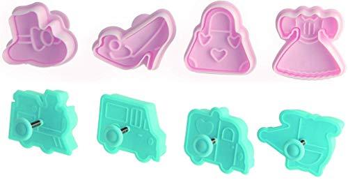Zenker Ausstecher Stempel, Kunststoff, pink, 5.5 x 5 x 6 cm, 4-Einheiten