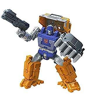 Transformers Toys Generations War for Cybertron  Kingdom Deluxe WFC-K16 Huffer Action Figure - Kids Ages 8 and Up 5.5-inch
