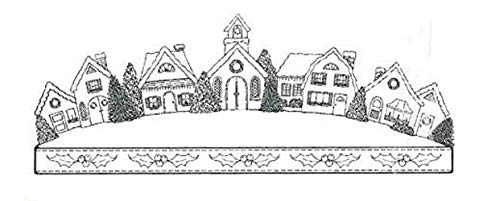 Impression Obsession Holiday House Banner Cling Rubber Stamp G16242
