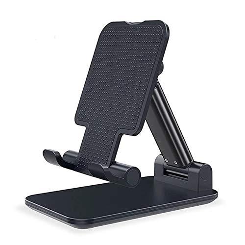 Suporte de Mesa para Celular Ajustável Articulado Tablet Smartphone (Preto)