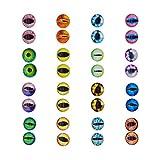 Cabujón de cristal redondo de 18 x 18 mm, para hacer joyas o hacer ojos de animales, 100 unidades