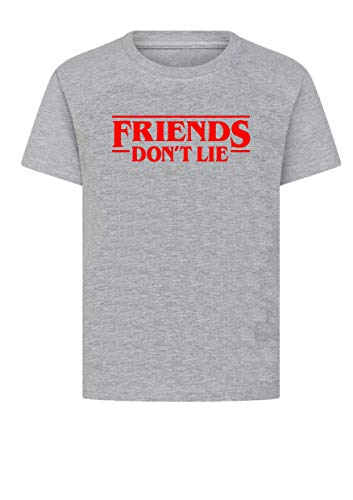 Camiseta unisex Stranger Things Faces Friends Don't Lie, TV