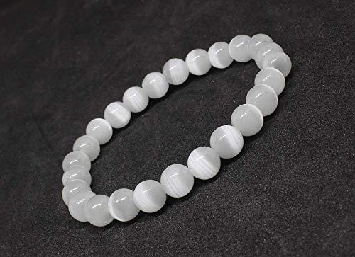 Selenite Stone Bracelet | Birthday Gift | Gift for him | Gift for Dad | Gift for Her | Bracelet Pierre | Men Bracelet | Bracelets for Women Unisex