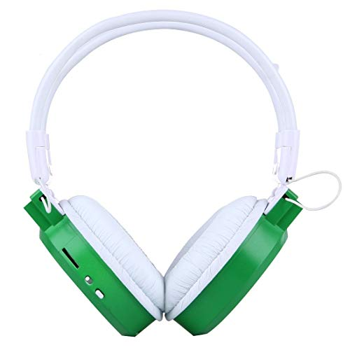 N / A Earphone Headset Folding Stereo HiFi Wireless Sports Headphone Headset with LCD Screen to Display Track Information/SD/TF Card, for Smart Phones/IPad/MP3 Or Other Audio Devices (Color : Green)