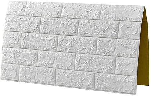 Adhesivos de Pared Paneles de Pared de Papel Tapiz 3D autoadhesivos - Revestimiento de Pared Moderno en Aspecto de Piedra - Instalación rápida y fácil
