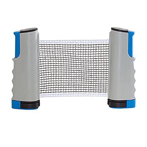 ZPFQFC Sportout einziehbares Ping-Net, tragbares Tischtennis-Netz-Rack, perfekt für Ping-Pong-Tisch, Schreibtisch, Hausküche oder Esstisch