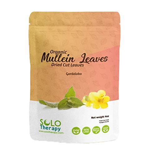 Organic Mullein Dried Cut Leaves , GORDOLOBO , Resealable Bag , Verbascum Thapsus , 4 oz , Mullein Leaf Tea , Product From Croatia , Packaged in the USA (4 oz)