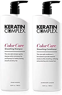 Keratin Complex Smoothing Therapy Keratin Color Care Shampoo and Conditioner Liter Duo
