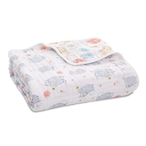 aden + anais Dream Blanket |Boutique Muslin Baby Blankets for Girls & Boys | Ideal Lightweight Newborn Nursery & Crib Blanket, Unisex Toddler Bedding, Shower & Registry Gift, Year of The Mouse