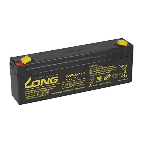 12V 2,2Ah Long WP2.2-12 VDs Akku AGM Blei Batterie 2,1Ah 2,3Ah Alarmanlage