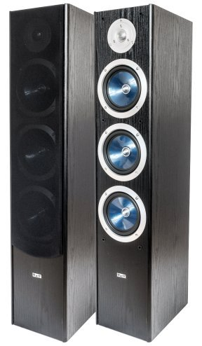 Wolf-Akustik HiFi-Standlautsprecher Triton 100 F schwarz (Paar) Leistung: 250 Watt