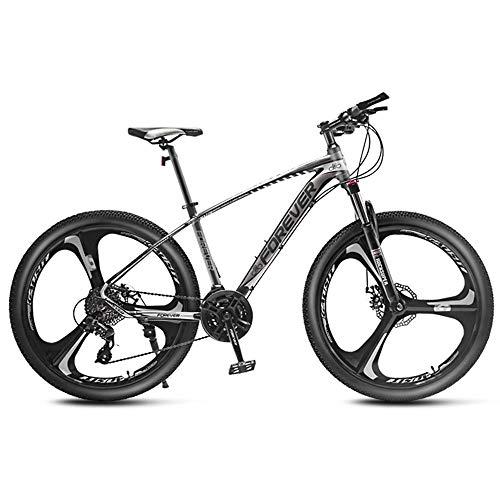 DelongKe 27.5 Zoll Mountainbike - Mountain Bike Mit 33 Gang MTB Fahrrad Für Herren Und Damen Federgabel Gabelfederung,Jungen-Mädchen-Fahrrad & Herren-Damen-Fahrrad,Weiß,C