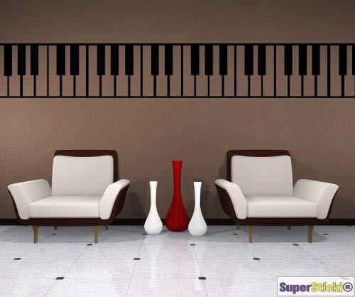 SUPERSTICKI piano muziek klassieke muurtattoo ca. 40 x 1,40 Hobby Deco Decoratie A1263 hoogwaardige folie sticker autosticker tuningsticker high-performance folie voor alle gladde oppervlakken
