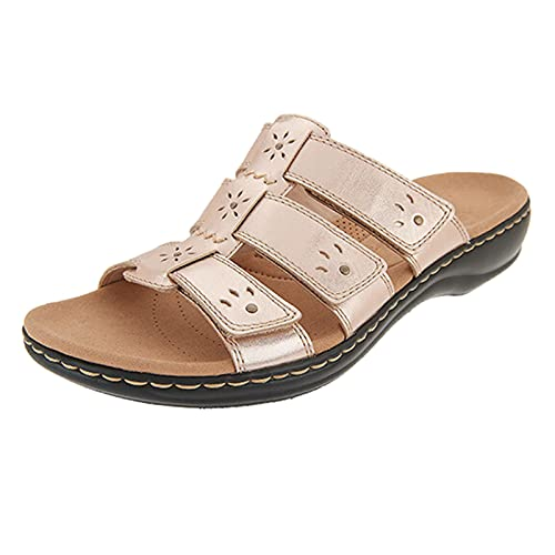 Damen Sandalen T-Riemen Bequeme Flache Beach Strandsandale Slingback Peep Toe Slip On Hausschuhe Slipper Sommer Sandals Freizeitschuhe(2-Beige/Beige,38) 2132