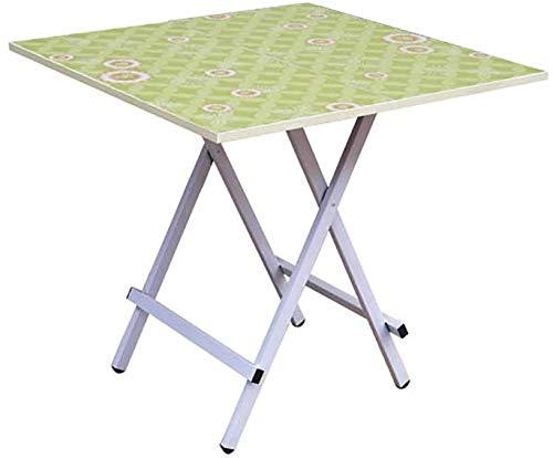 Table à Manger Pliante Portable ménage Simple (4 Couleurs, 4 (Couleur: A, Taille: L * W * H: 70 * 70 * 75cm)