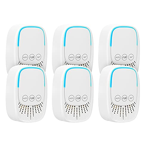 Ultrasonic Pest Repeller - 6 Pack Mosquito Repellent Pest Control Electronic Indoor Ultrasonic Insects & Rodents Repellent for Mosquito, Mouse, Cockroach, Rats, Bug, Spider, Ant