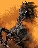 Pintura por Números Caballo animal creativo para Adultos Niños DIY Pintura al óleo Kit con Pinceles y Pinturas - 16x20 Inch- Sin Marco -HYS131