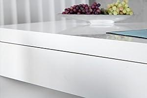 DuNord Bureau Design Blanc Brillant 120 cm