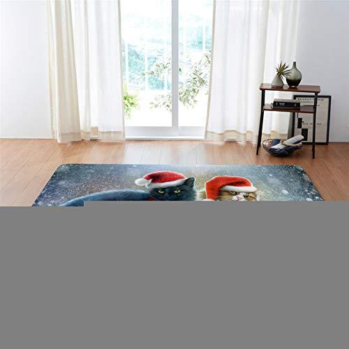 Kinntn tapijt, 3D, Scandinavische stijl, groot, antislip, wasbaar, kerstmuts, geschikt voor woonkamer, slaapkamer, keuken, hal, werkkamer enz. 120x170cm