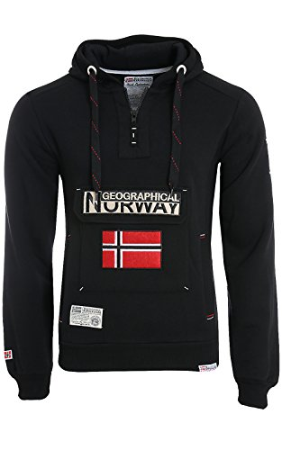 Geographical Norway – Sudadera Gymclass Negro Negro Large