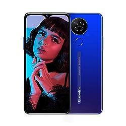 Blackview A80 Smartphone ohne Vertrag 4G, Android 10.0 Go, 6,2 Zoll HD+ Display, 13MP-Quad-Kamera, 4200mAh Batterie, 2GB/16GB, 128 GB erweiterbar, Dual Nano-SIM Handy - Deutsche Version (Blau)