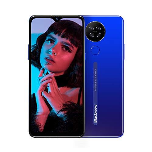 """Moviles Libres 4G, Blackview A80 Smartphone Libre Android 10 GO con Cámara Trasera Cuádruple 13MP, 6.21"""" HD+ Water-Drop Screen, 2GB+16GB (SD 128GB), Batería 4200mAh Teléfono Móvil Libre, Face ID-Azul"""