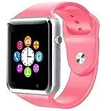 Bluetooth Smart Watch en A1 de los hombres de deporte reloj de pulsera soporte 2G SIM TF tarjeta de la cámara fotográfica Smartwatch para Android del teléfono PK GT08 DZ09 Q18 Y1 V8 Standard Rosa