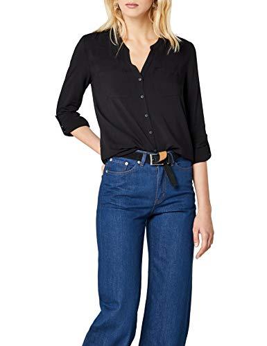 ONLY Damen onlFIRST LS Pocket Shirt NOOS WVN Bluse, Schwarz (Black Black), 38