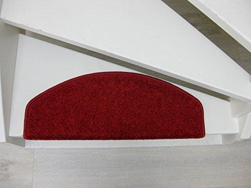 15 Tappeti per scalini - passatoie per singoli gradin San Jose 65x24x4cm rosso, grigio, beige, marrone (Rosso)
