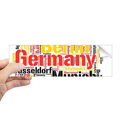 DIYthinker Duitsland Stadsnaam Kaart Stijl Illustratie Rechthoek Bumper Sticker Notebook Window Decal