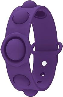 ELECDON Stress Relief Wristband Fidget Toys, Wearable Push Bubble Sensory Fidget Hand Finger Press Silicone Bracelet Toy F...