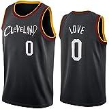 ATI-HSKJ Camisetas De Baloncesto De La NBA, Cleveland Cavaliers Kevin Love # 0 Jersey Tejido Transpirable Fresco Swingman Chaleco Sin Mangas Ropa Superior,XXL(185~190CM/95~110KG)