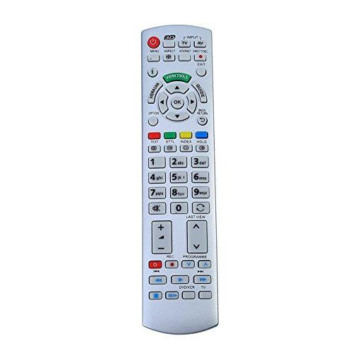 Richer-R Mando a Distancia de TV,Control Remoto de TV para Panasonic N2QAYB000504 N2QAYB000673 N2QAYB000785 TX-L37EW30 TX-L42ES31 Negro