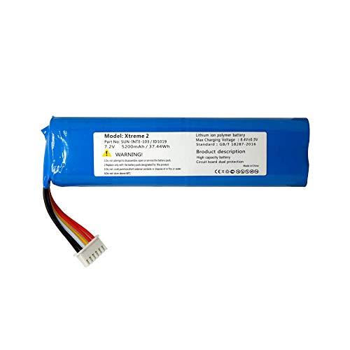 GzxLaY Batería de Respaldo de Alto Rendimiento 7.4v 5200mah x 2 batería para jbl Xtreme 2 2nd SUN-INTE-103 2INR19 / 66-2
