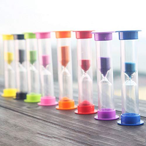 XdiseD9Xsmao zandloper Swivel 3-minuten zandloper timer voor kamer, keuken, kantoor, decoratie, kinderen, tanden poetsen tijd, gadget zufällige kleur