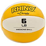 Champion Sports Exercise Medicine Balls, 6-7 lbs, Leather with No-Slip Grip - Weighted Med Ball Set...