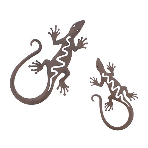 """Metall-Deko \""""Gecko\"""", 2er Set"""