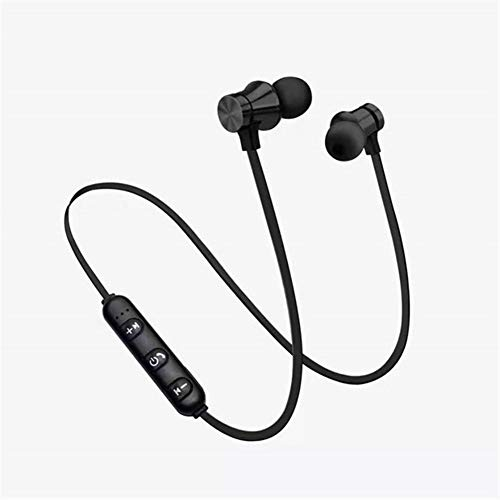 Wangleiujm Magnetic Earphone for Any Mobile Phone, Sports Running Wireless Bluetooth Earphone, Fashionable Portable Earphone Leisure and Entertainment Headphones for Home or o (Color : Black)