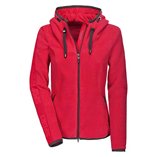 PIKEUR Damen Fleece Jacke STELLA CLASSIC Collection Herbst-Winter 2019/2020, bright red, 42