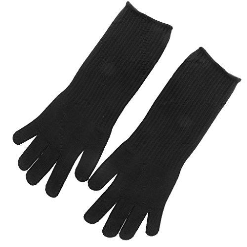 Länge Schnittschutzhandschuhe Benzin Forstschutz für Kettensäge Handschuhe - Schwarz