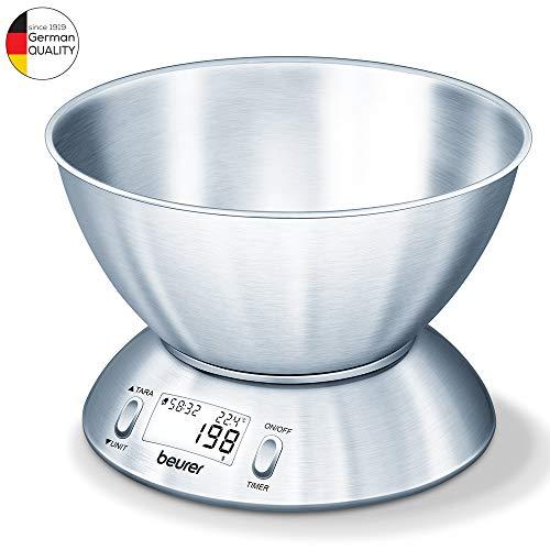 Beurer KS 54- Bilancia da Cucina con Ciotola in Acciaio Inox